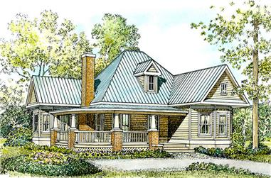 2-Bedroom, 1270 Sq Ft Cottage Home Plan - 192-1001 - Main Exterior