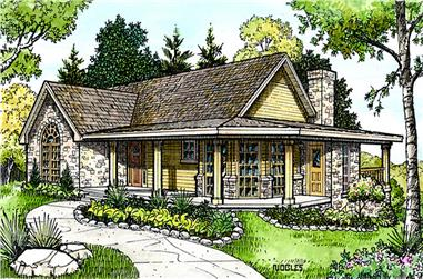 3-Bedroom, 1963 Sq Ft Country Home Plan - 192-1018 - Main Exterior