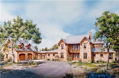 3-Bedroom, 3915 Sq Ft Bungalow Home Plan - 192-1033 - Main Exterior