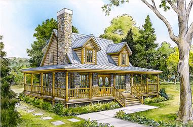 3-Bedroom, 1479 Sq Ft Cottage House Plan - 192-1035 - Front Exterior