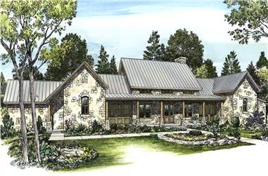 4-Bedroom, 3325 Sq Ft Ranch Home - Plan #192-1056 - Main Exterior