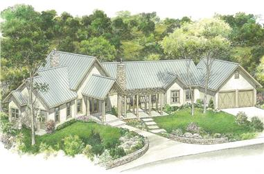 3-Bedroom, 2862 Sq Ft Ranch House - Plan #192-1057 - Front Exterior