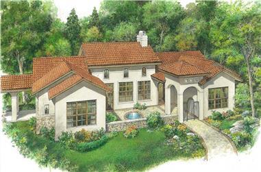 3-Bedroom, 2357 Sq Ft Mediterranean Home - Plan #192-1064 - Main Exterior