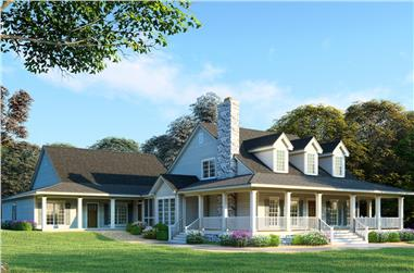 6-Bedroom, 3437 Sq Ft Country House - Plan #193-1017 - Front Exterior