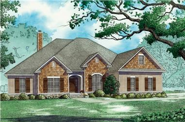 4-Bedroom, 2646 Sq Ft Bungalow House - Plan 193-1071 - Front Exterior