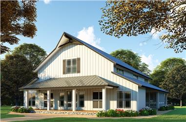 3-Bedroom, 4072 Sq Ft Country Home - Plan #193-1120 - Main Exterior