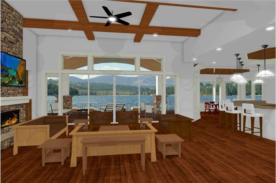 Great Room of this 2-Bedroom,2605 Sq Ft Plan -2605
