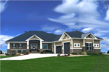 2-Bedroom, 2605 Sq Ft Ranch House - Plan #194-1010 - Front Exterior