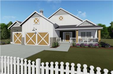 2-Bedroom, 1463 Sq Ft Modern Farmhouse Home - Plan #194-1016 - Main Exterior