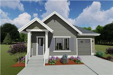 1-Bedroom, 810 Sq Ft Small House - Plan #194-1039 - Front Exterior