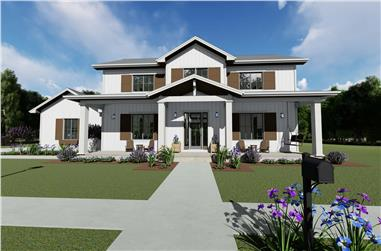5-Bedroom, 3117 Sq Ft Farmhouse House - Plan #194-1048 - Front Exterior