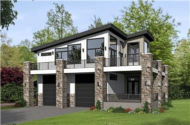 1-Bedroom, 1319 Sq Ft Garage w/Apartment Home - Plan #196-1044 - Main Exterior