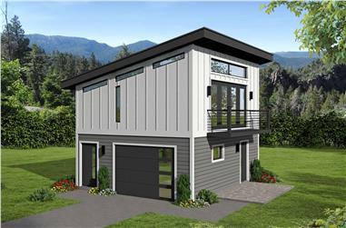 0-Bedroom, 400 Sq Ft Garage Home Plan - 196-1098 - Main Exterior