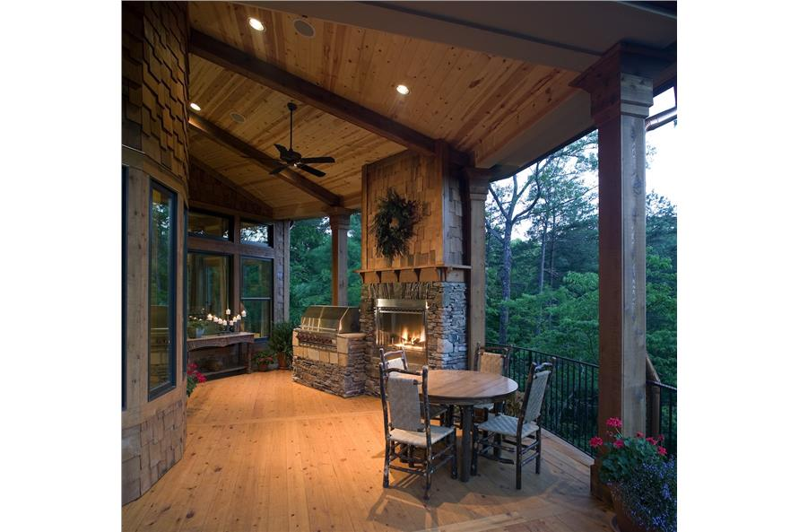 Deck of this 3-Bedroom,2587 Sq Ft Plan -2587