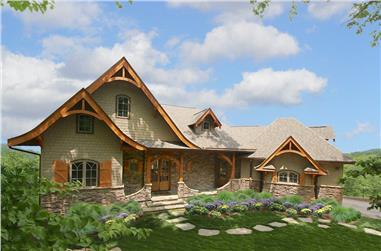 3-Bedroom, 2184 Sq Ft Cottage House Plan - 198-1050 - Front Exterior