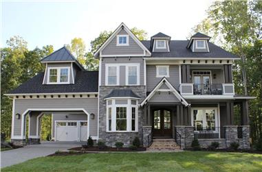 5-Bedroom, 3970 Sq Ft Luxury House - Plan #198-1060 - Front Exterior