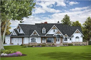 3-Bedroom, 3696 Sq Ft Cottage Home- Plan #198-1095 - Main Exterior