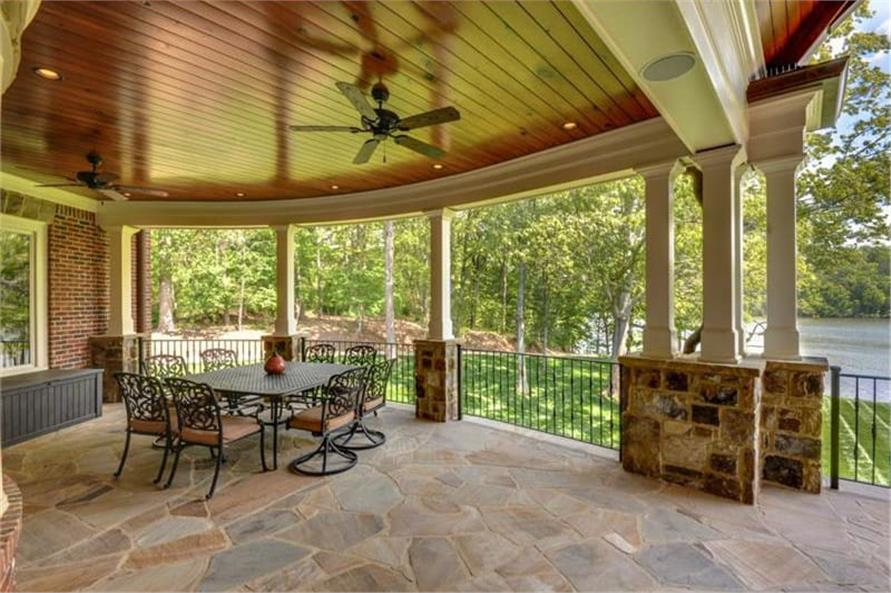 Deck of this 4-Bedroom,3773 Sq Ft Plan -3773