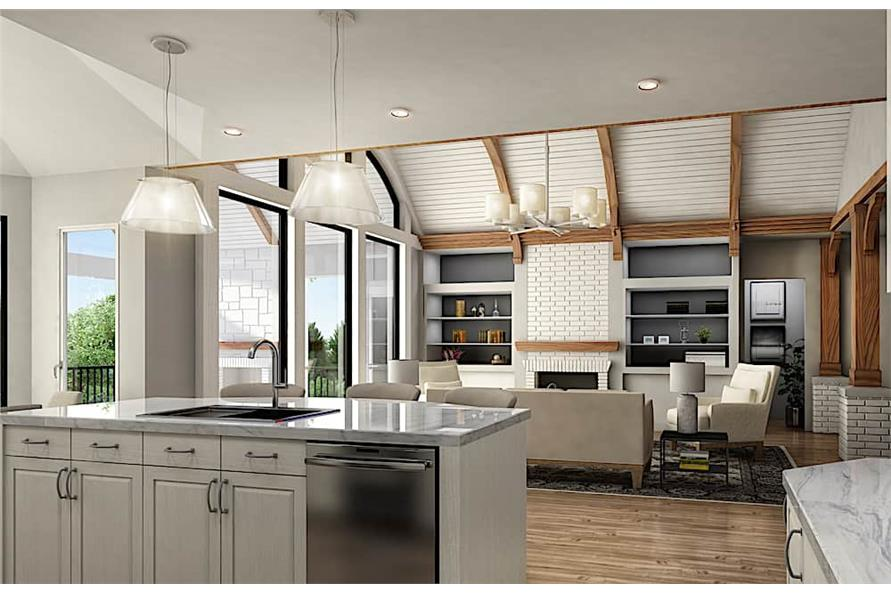 Kitchen of this 4-Bedroom,3773 Sq Ft Plan -3773