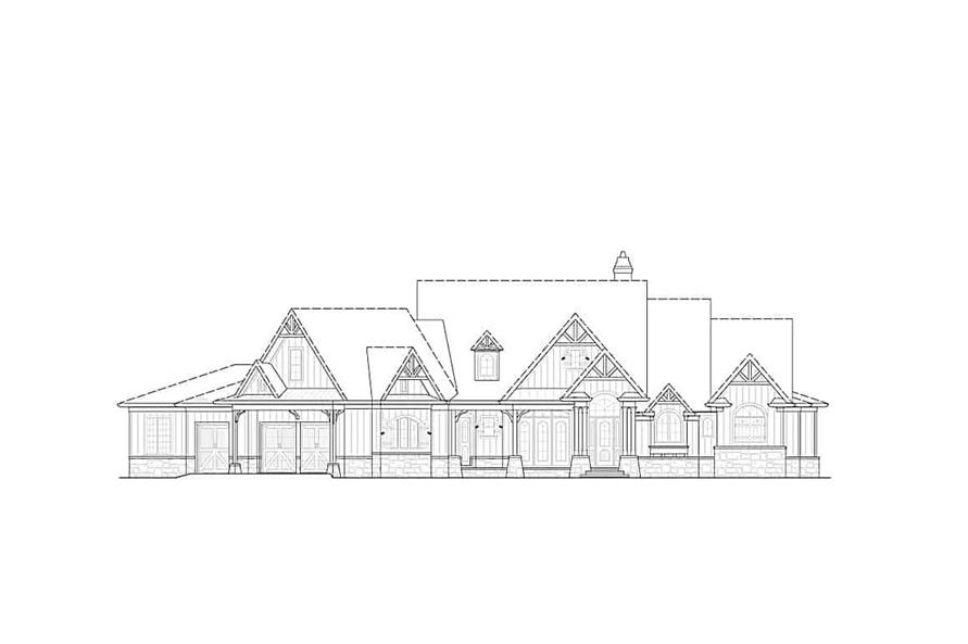Home Plan Front Elevation of this 4-Bedroom,3773 Sq Ft Plan -198-1117