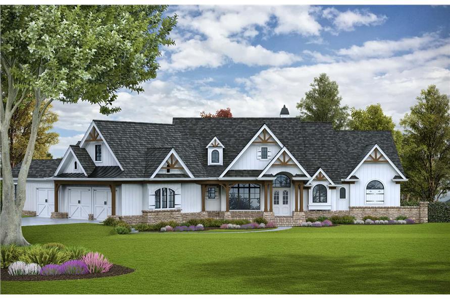 4-Bedroom, 3773 Sq Ft Luxury Home - Plan #198-1117 - Main Exterior