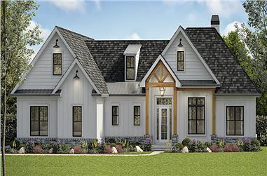 5-Bedroom, 3154 Sq Ft Cottage Style House - Plan #198-1160 - Front Exterior