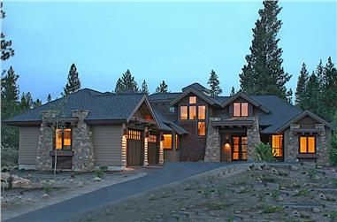 4-Bedroom, 3513 Sq Ft Contemporary Home - Plan #202-1012 - Main Exterior