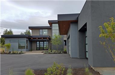 4-Bedroom, 3712 Sq Ft Modern House - Plan #202-1015 - Front Exterior