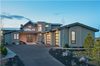 5-Bedroom, 3275 Sq Ft Contemporary Home - Plan #202-1019 - Front Exterior