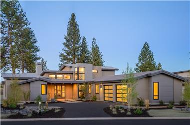 5-Bedroom, 3217 Sq Ft Contemporary Home - Plan #202-1021 - Main Exterior
