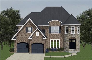 4-Bedroom, 2640 Sq Ft French Home - Plan #203-1042 - Main Exterior
