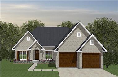 3-Bedroom, 1522 Sq Ft Ranch Home - Plan #203-1043 - Main Exterior