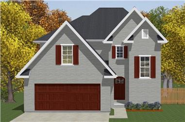 4-Bedroom, 2267 Sq Ft European Home - Plan #203-1044 - Main Exterior