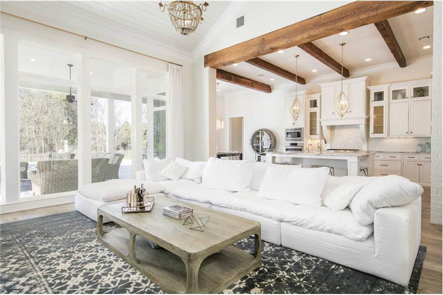 Living Room of this 4-Bedroom,3254 Sq Ft Plan -3254