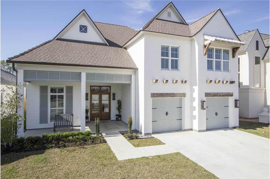 Front View of this 4-Bedroom,3254 Sq Ft Plan -3254