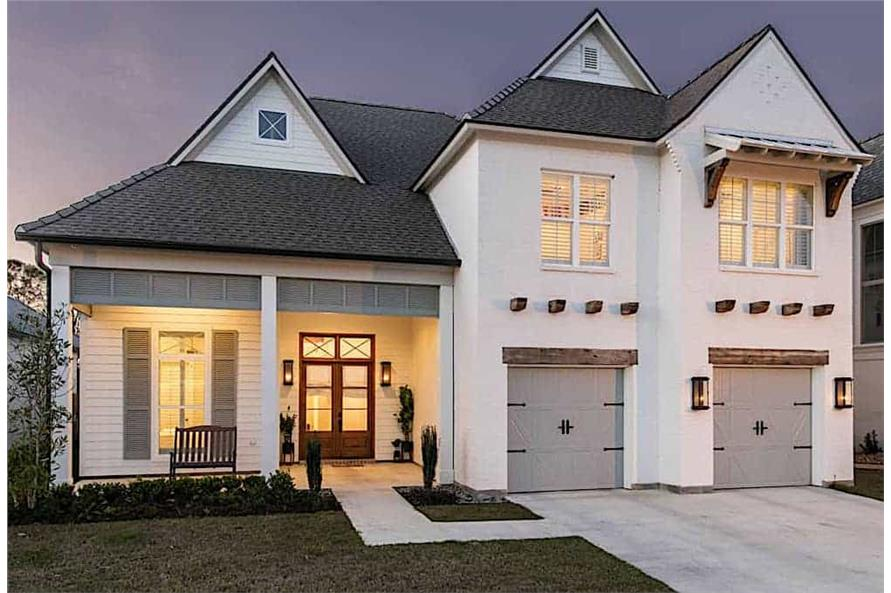 4-Bedroom, 3254 Sq Ft Country House - Plan #204-1017 - Front Exterior