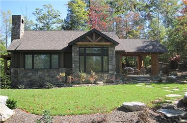 2-Bedroom, 681 Sq Ft Rustic Cottage House - Plan #205-1003 - Front Exterior