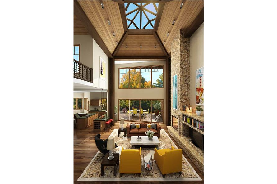Living Room of this 4-Bedroom,4085 Sq Ft Plan -4085