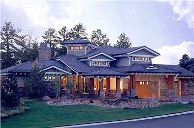 5-Bedroom, 5876 Sq Ft Prairie Home - Plan #205-1019 - Main Exterior