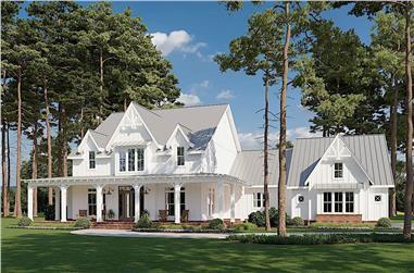 4-Bedroom, 4103 Sq Ft Farmhouse Home - Plan #206-1028 - Main Exterior