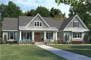 4-Bedroom, 2300 Sq Ft Ranch Home - Plan #206-1030 - Main Exterior
