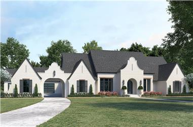 4-Bedroom, 3690 Sq Ft European Home Plan - 206-1032 - Main Exterior