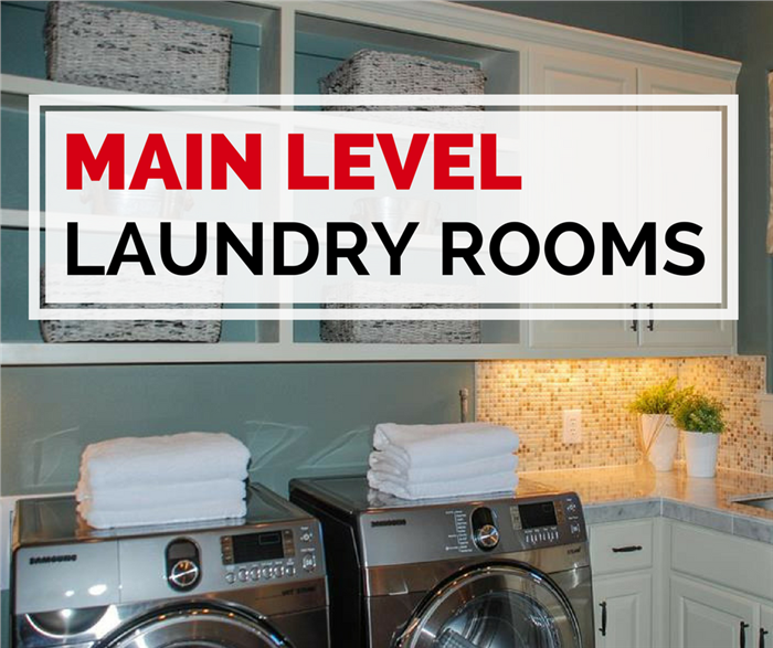 Photo of laundry room to illustrate article on main-level laundries