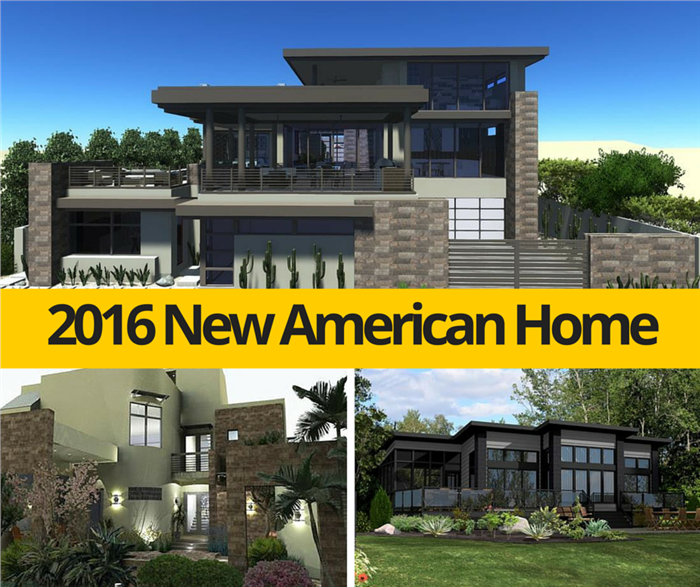 Montage of three images illustrating home plan design ideas