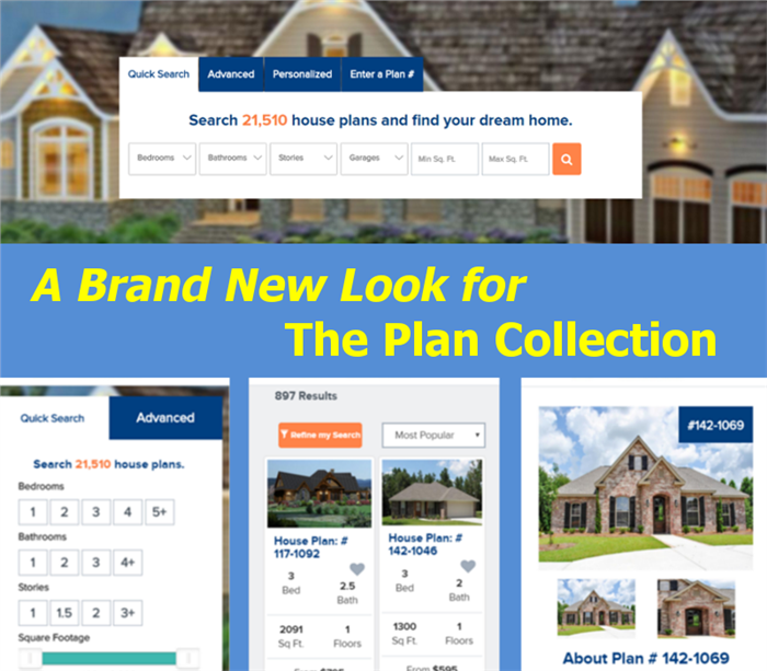 Brand New Look for The Plan Collection - Responsive Site and Web-Friendly