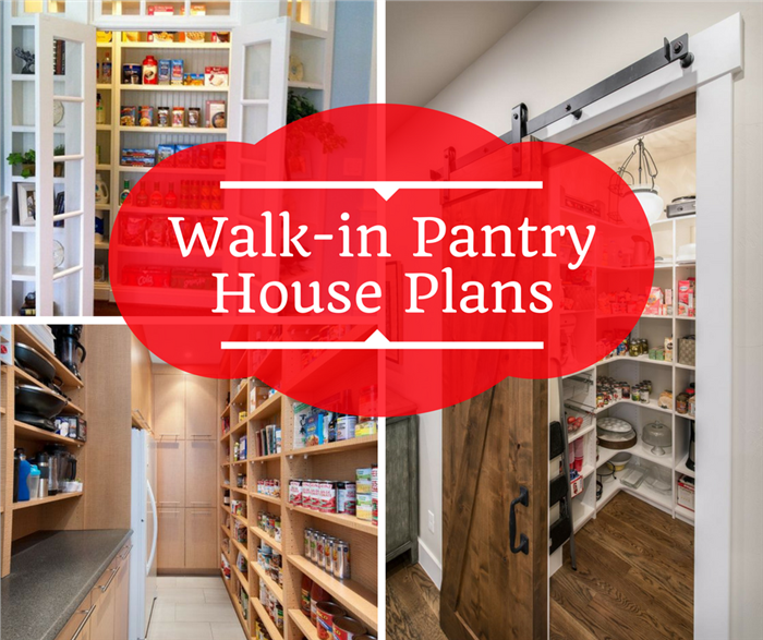 Photograph of pantry illustrating article on walk-in kitchen pantries