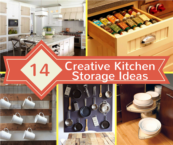 learn house plan 14 Creative Kitchen Storage Ideas