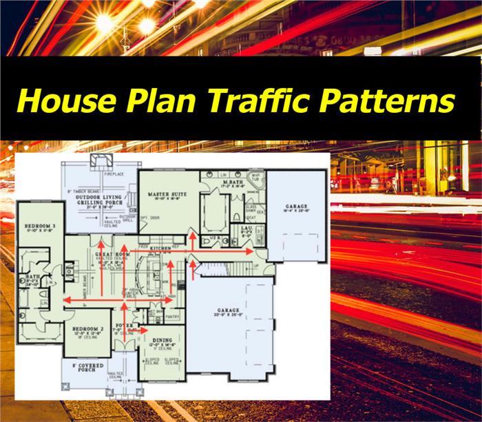 house plan traffic patterns