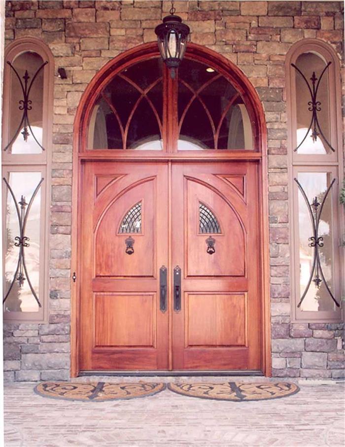 Elegant wood front door – House Plan #106-1165