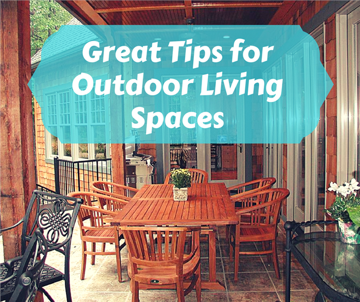 Image illustrating and article about outdoor living at home